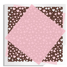 Chocolate Hearts 24x24in pink H3
