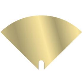 Hoes Moon Iris 40x40cm goud