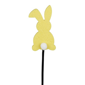 Baby Bunny 3.5 in on 20 in stick yellow