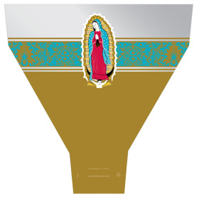 Virgen de Guadalupe 21x17x5 in