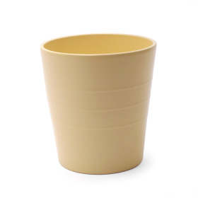 Ceramic Pot Linn 5 in matte yellow