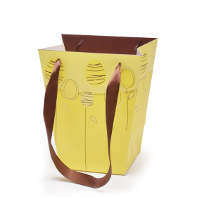 Easterbag Chocolate Egg 17/13x11/11x20cm yellow