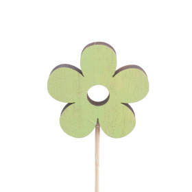 Flower Power 8cm on 50cm stick green