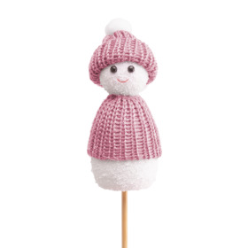 Snowdoll Macy 10cm on 50cm stick pink