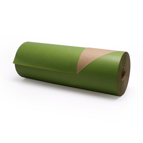 Roll Brown Kraftpaper 60cm/50g. FSC Mix 70% apple green