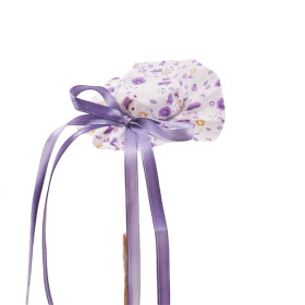 Hat Floral Happiness 8cm on 50cm stick lilac