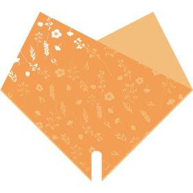 Double Atelier 14x14 in orange