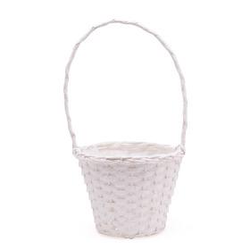 Basket Dreamy Garden Ø18 H14cm white