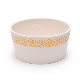 Ceramic Bowl Tribal Ø7.1 H3.5 in yellow