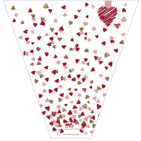 Confetti Love 21x17x5in red/pink