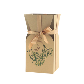 Bouquet box Kisses & Wishes 13x13x26cm FSC mix naturel