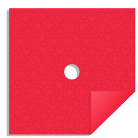 Watersafe Tissue Sweet Romance 24x24in red with hole