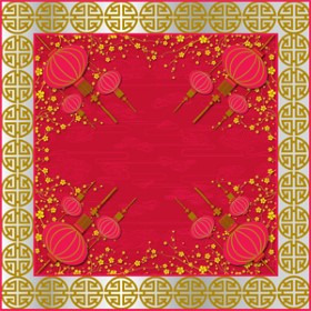 Beijing 15x15 in red