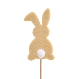 Baby Bunny 7cm on 10cm stick yellow