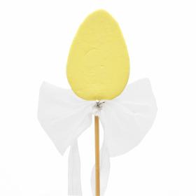 Tender Egg 6cm on 50cm stick yellow