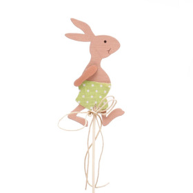 Boy Rabbit 3.5in on 20in stick green
