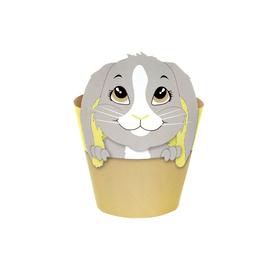 "Potcover Bunny 4"" yellow"