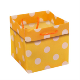 CARRYBAG POLKA DOTS 5X5X5 IN YELLOW