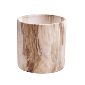Ceramic pot Marble ES12 brown/white