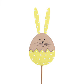 Bunny Cupcake 10cm on 50cm stick yellow