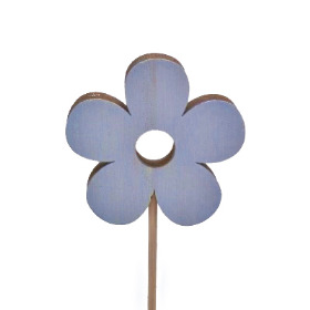 Flower Power 6cm on 10cm stick blue
