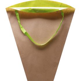 Flowerbag Kraft 45x45x14cm green