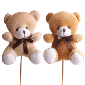 Bear Teddy 18x14cm on 50cm stick assorted x2