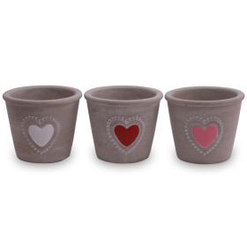 Ceramic Pot Amuri ES12 assorted x3