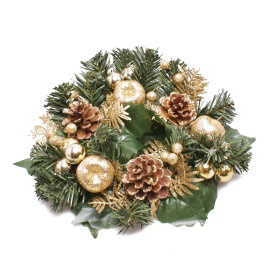 Wreath Luxury 25cm gold