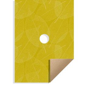 Skeleton Leaves kraft 20x28in yellow H3