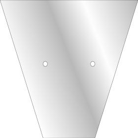 Plant sleeve V-Shape 32x32x12cm CPP50 transparent