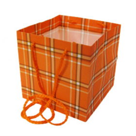 Carrybag Plaid 16x16x16cm orange