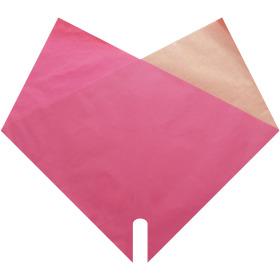 Sleeve Doublé Kraft 35x35cm pink