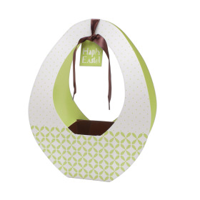 Easter gift bag Festival 26x12x35cm green