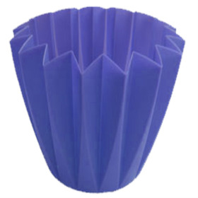 Cupcake container 5.5 in blue