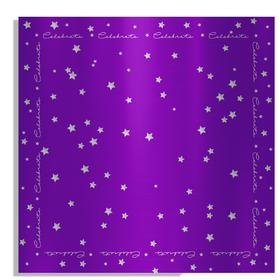 Celebrate 24x24in purple
