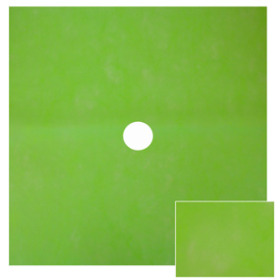 Watersafe Tissue 24x24 in lime green with 3 in hole