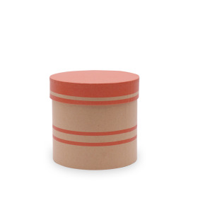 Hat box Duo Lines Ø12.5xH12cm red
