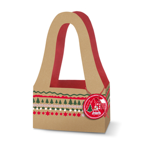 Carrybag Christmas Stories 20/11.5x32.5cm FSC Mix red