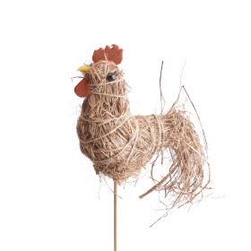 Rooster Strawy 8cm on 50cm stick