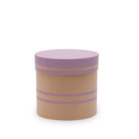 Hat box Duo Lines Ø12.5xH12cm lilac