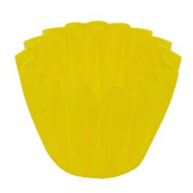 Cupcake container 11cm lemon