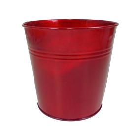 Tin Pot 6in red metallic