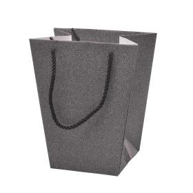 Carrybag Glitter&Glamour 17/13x11/11x20cm black