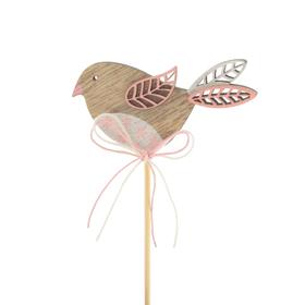 Bird Kiki 3in on 20in stick pink