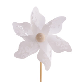 Windmill Jazz 9cm on 50cm stick white