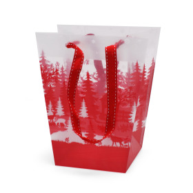 Carrybag Winter Paradise 17/13x11/11x20cm red