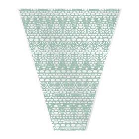 Sleeve Vintage Lace V-shape 40x30x10cm green