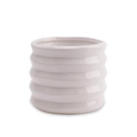 Ceramic Pot Coupe Madras Ø13.5H12cm White
