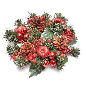 Wreath Luxury 25cm red